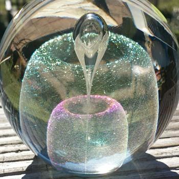 Robert Stephan Paperweight - Art Glass
