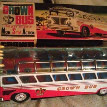 Japanese Battery Operated Crown Bus!  - Toys