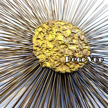 Bronze Wall Art Sunburst Kenneth Clark 1970's - Visual Art