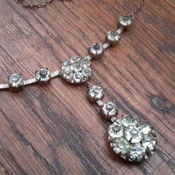 1930s paste stone necklace