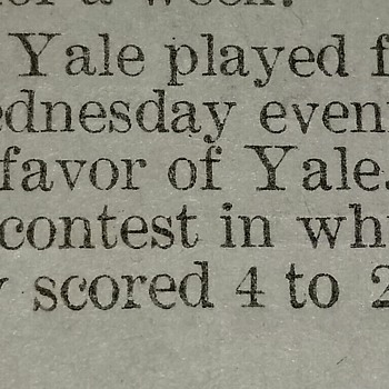 Harvard vs Yale 1901