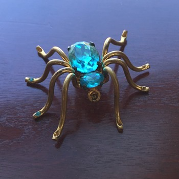 Czecho Spider Pin - Costume Jewelry