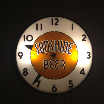 Sunshine Beer Clock