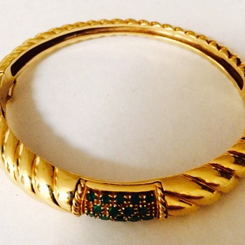 Heavy 750 Gold And Emerald Bracelet - Fine Jewelry
