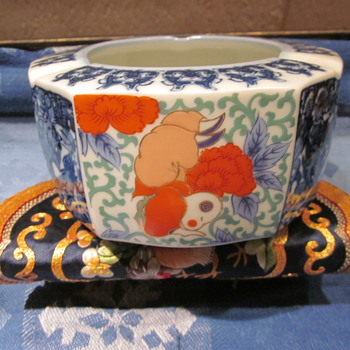 Japanese intrested Hand Painted Planter Figures