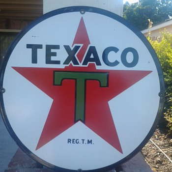 texaco orignal sign - Signs