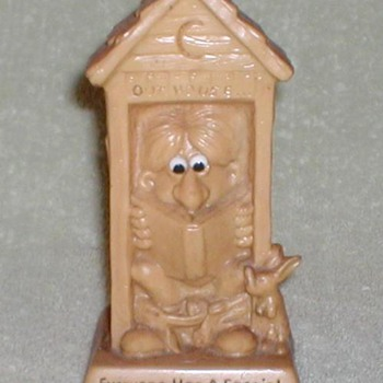 Novelty Desk Figure - Outhouse