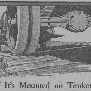 1919 Timken Roller Bearings Advertisement - Advertising