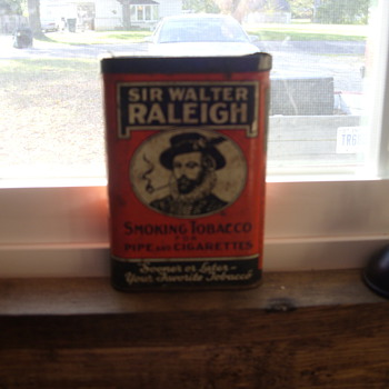 sir walter raleigh tin - Tobacciana