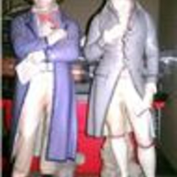Beethoven and Mozart figurines - Art Pottery