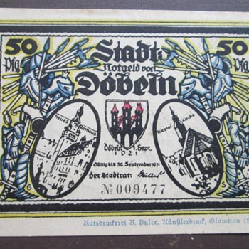 My Favorite Old Banknotes (Emergency Notes Germany/Notgeld Germany)