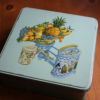 Tin with Fruit and Scale - Kitchen