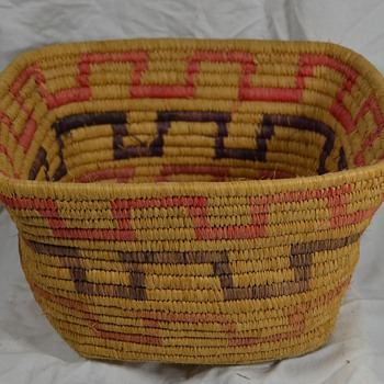 Block Design Native American Basket - Unknown Origin