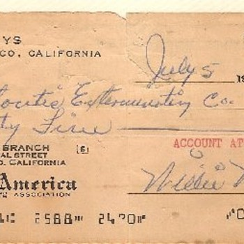 Willie Mays NSF Check 1961 - Baseball
