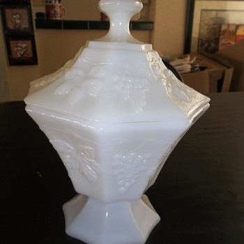 Milk Glass Candy Dish?