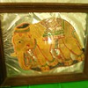 very old...portrait of elelphant made out of elephant skin