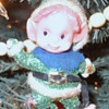 Glittery Elf ornament