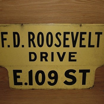 1950s porcelain street sign from Manhattan, N.Y.