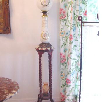 Antique Neapolean II Kerosene Banquet Lamp