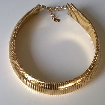 Retro Omega Christian Dior Choker, Flea Market Find 1 Euro ($1.14) - Costume Jewelry