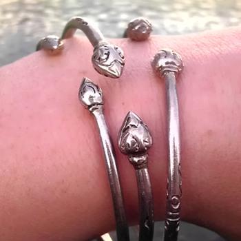 Silver torque bangles - Fine Jewelry
