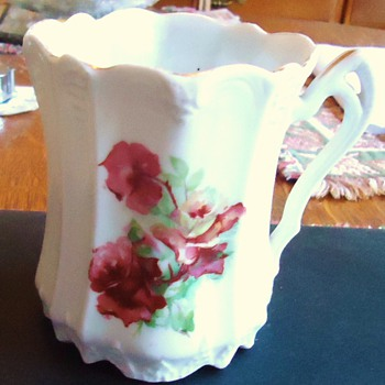 Antique porcelain small pitcher for cream, with 1179 and X on bottom