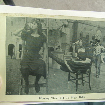 """1908 VERY BIZARRE POSTCARD=""""BLOWING THEM OFF TO HIGH BALLS!"""" - Postcards"""