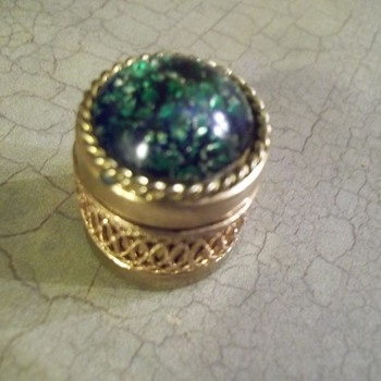 Tiny trinket box marked Austria - Fine Jewelry
