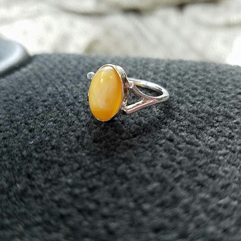 Sterling and Egg Yolk Amber