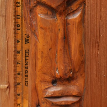 Vintage carved Tiki head or whatever... - Folk Art