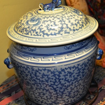 Large, Old Covered Pot from China - Asian