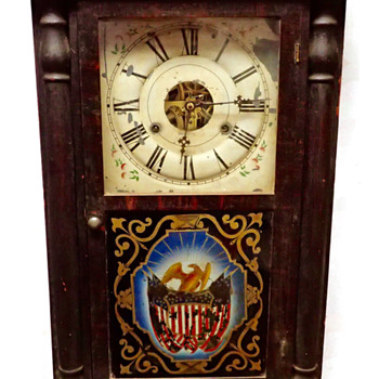 Seth Thomas Half Column 1 Day Clock (Manufactured ?) - Clocks