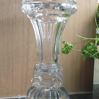 Large pressed glass vase