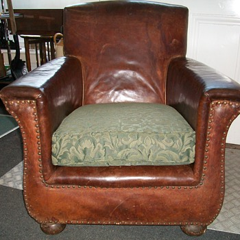 Leather Club Arm Chair circa 1890