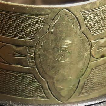 Silver Napkin Ring - #5?