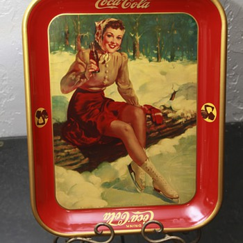 1941 coke tray skating girl