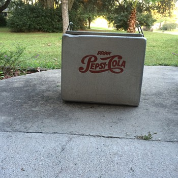 1950's aluminum Pepsi Cola cooler - Advertising