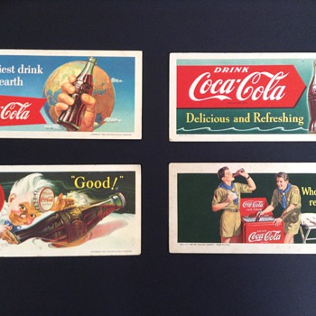 My coca cola ink blotters - Coca-Cola