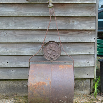 Antique cast iron garden roller