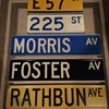 """Color-coded"" street signs from New York City"