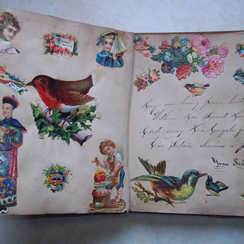 Victorian Scrapbook 1879 - mourning