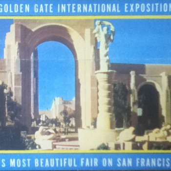 1939 Golden Gate International Exposition Fold-Out Postcard - Postcards