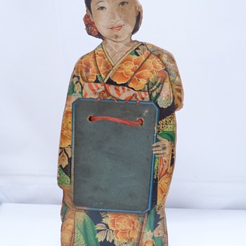 Japanese cut out figure