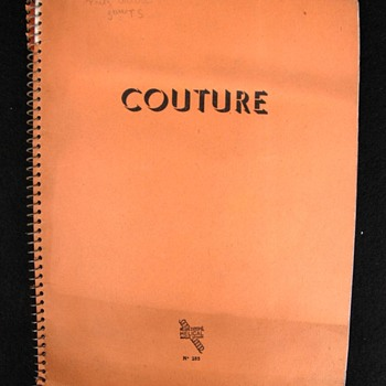 cahier de couture - vers 1950