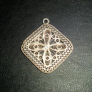 Bulgarian silver pendant.
