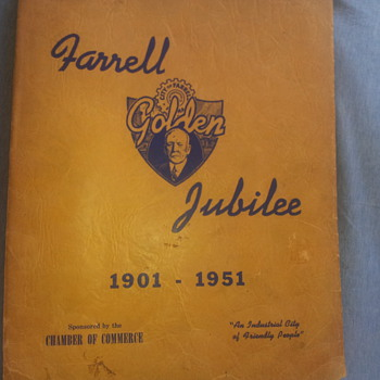 Farrell Golden Jubilee 1901-1951 Souvenir Book - Books