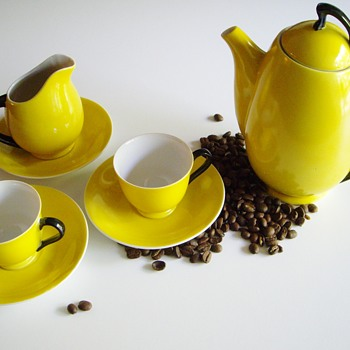 Art Deco or Eames Porcelain Coffee Set?