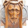 Beautiful Vintage French Art Deco Wood Sculpture of Jesus