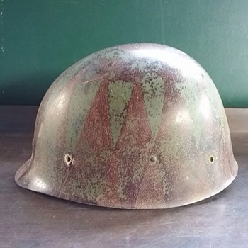 Military Army Green and Brown Hard Hat Helmet