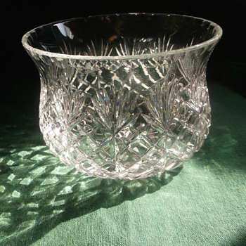 Heavy cut glass bowl